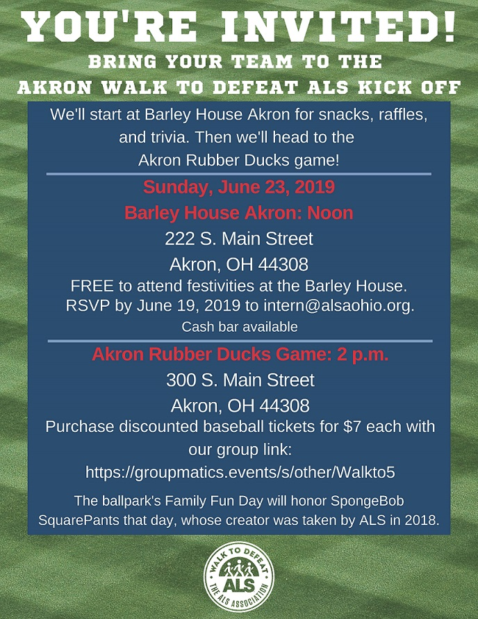 2019 Akron Kick Off Invitation